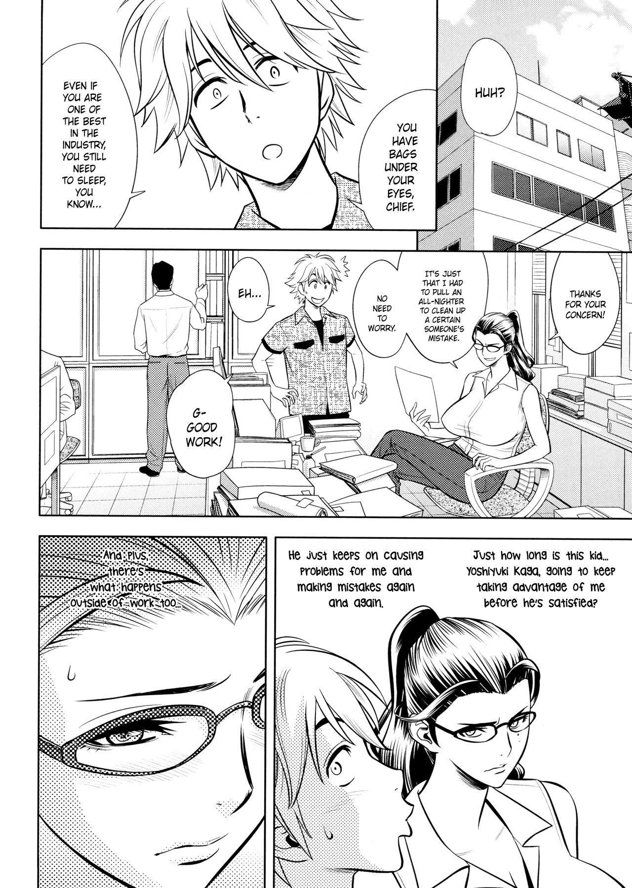 [Tatsunami Youtoku, Yamazaki Masato] Bijin Henshuu-chou no Himitsu | Beautiful Editor-in-Chief's Secret Ch. 1-7 [English] [Forbiddenfetish77, Red Vodka, Crystalium, CEDR777] [Decensored] 105