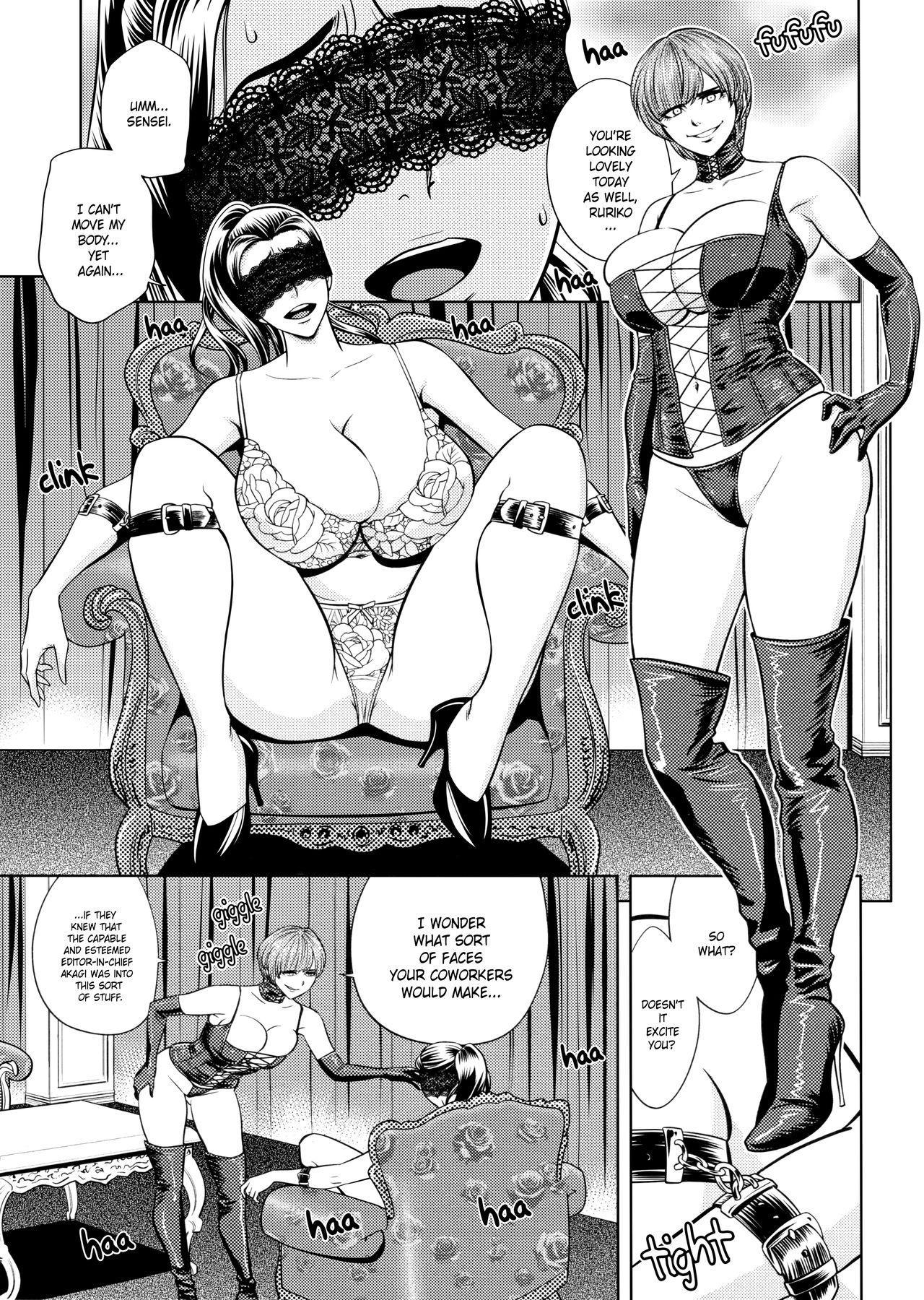 [Tatsunami Youtoku, Yamazaki Masato] Bijin Henshuu-chou no Himitsu | Beautiful Editor-in-Chief's Secret Ch. 1-7 [English] [Forbiddenfetish77, Red Vodka, Crystalium, CEDR777] [Decensored] 136