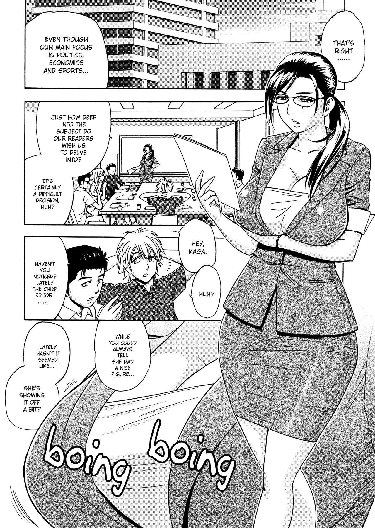 [Tatsunami Youtoku, Yamazaki Masato] Bijin Henshuu-chou no Himitsu | Beautiful Editor-in-Chief's Secret Ch. 1-7 [English] [Forbiddenfetish77, Red Vodka, Crystalium, CEDR777] [Decensored] 25