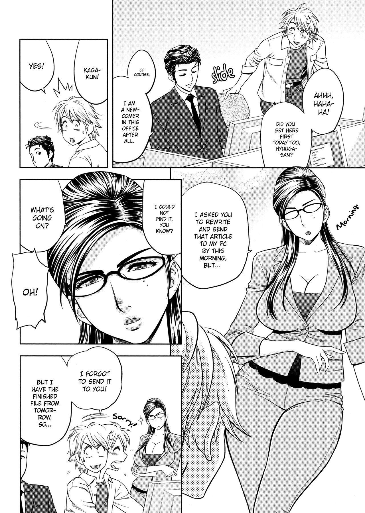[Tatsunami Youtoku, Yamazaki Masato] Bijin Henshuu-chou no Himitsu | Beautiful Editor-in-Chief's Secret Ch. 1-7 [English] [Forbiddenfetish77, Red Vodka, Crystalium, CEDR777] [Decensored] 69