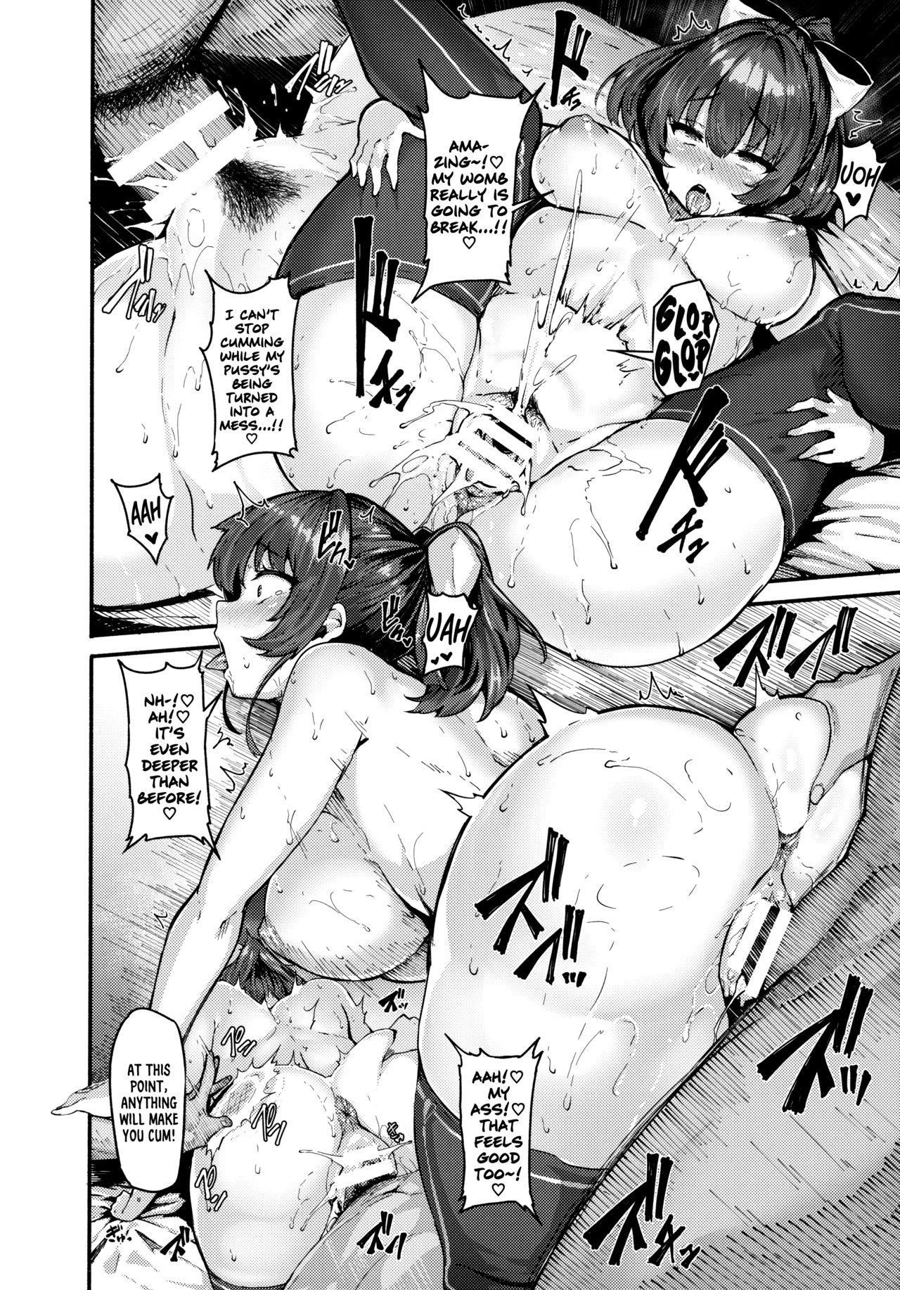 (Akihabara Chou Doujinsai) [LAMINARIA (Shiokonbu)] Kimi-tachii Senchou to Off-pako Shitain desu kaa | You Guys~! Do You Wanna Have Offline Sex With Senchou? (Houshou Marine) [English] [Xzosk] 21